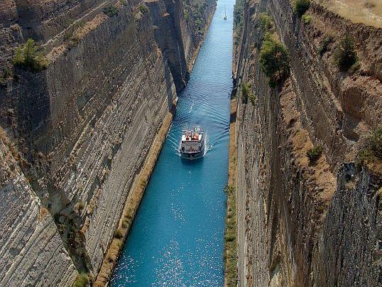 Korynt. Kanał Koryncki tylko dla turystów