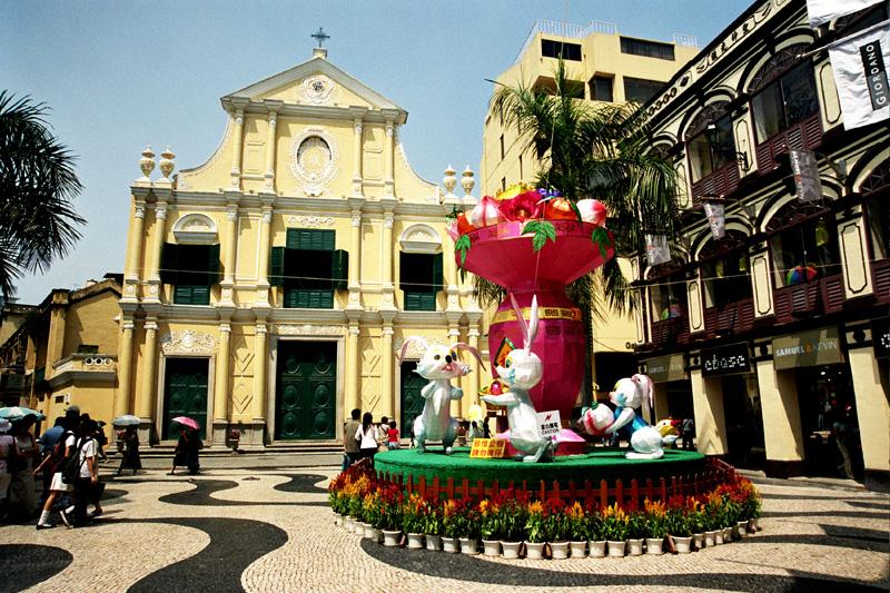 Makau Portugalska starówka w chińskim mieście