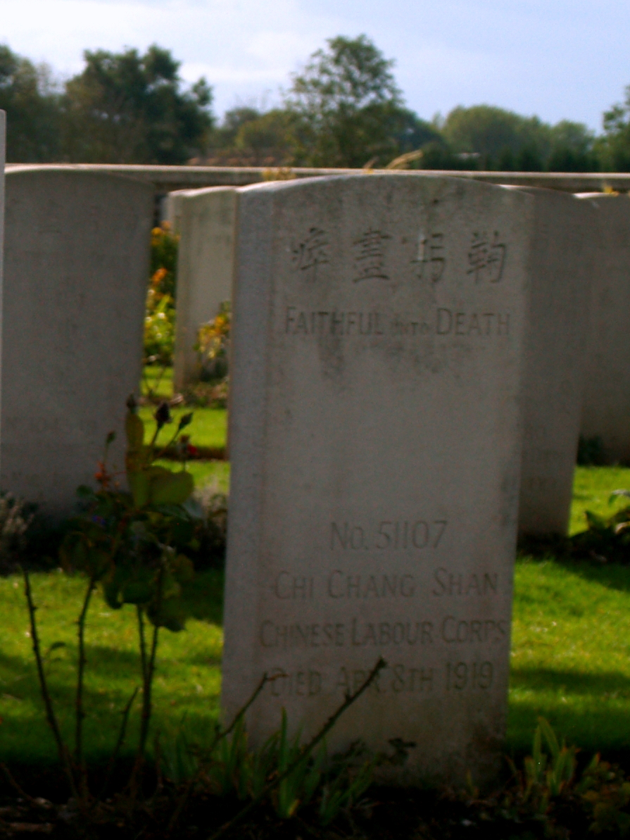 Nolette. Cmentarz wojenny chińskich robotników