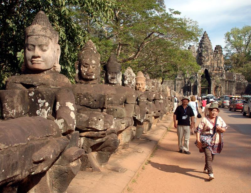 Angkor Thom Wielkie Miasto Khmerów