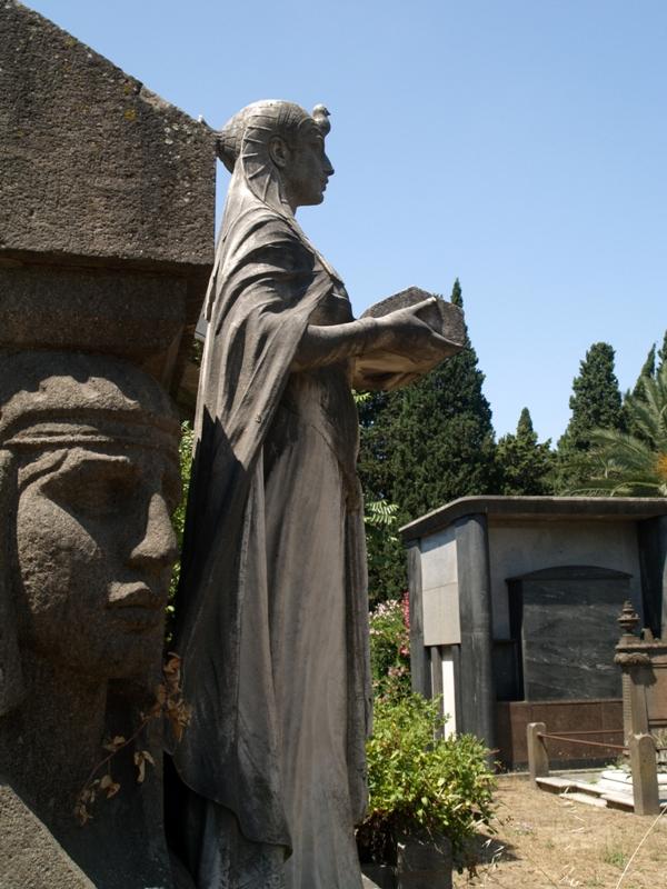 Rzym. Cmentarz żydowski, dziś ogród różany