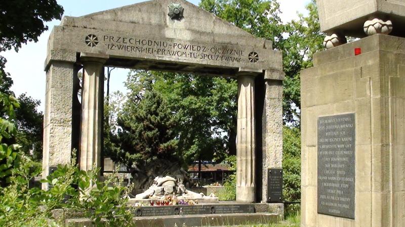 Kraków Pomniki na Cmentarzu Rakowickim