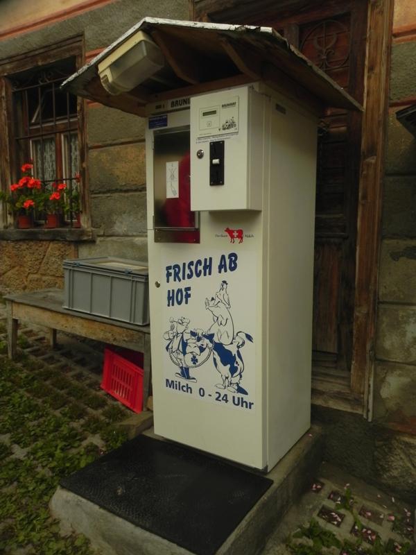 Flims. Alpejscy mleczarze i alpejscy turyści