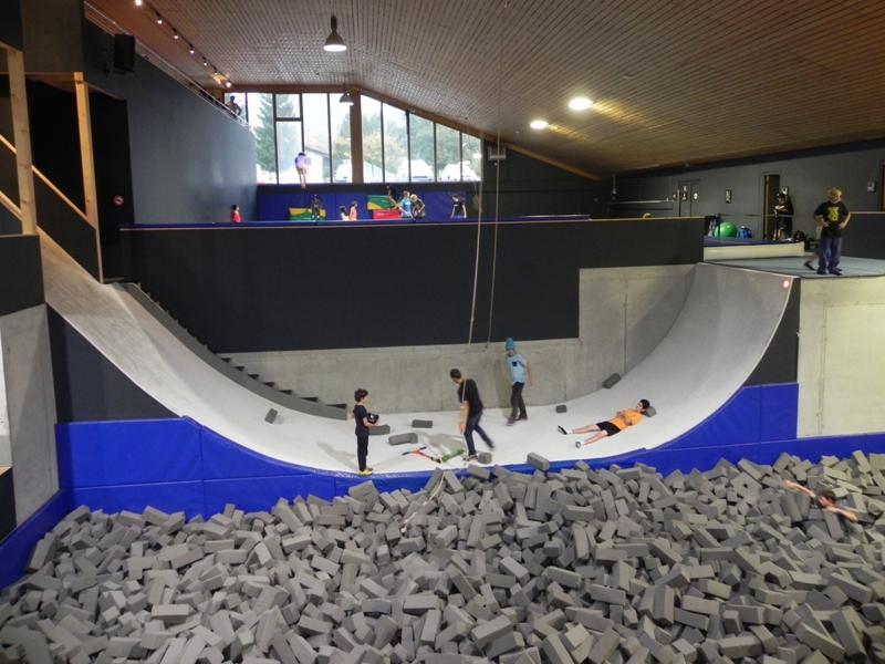 Laax Freestyle'owa akademia w środku Alp