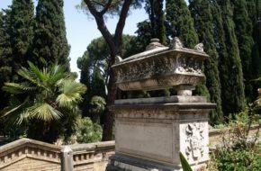 Rzym Cmentarz żydowski, dziś ogród różany