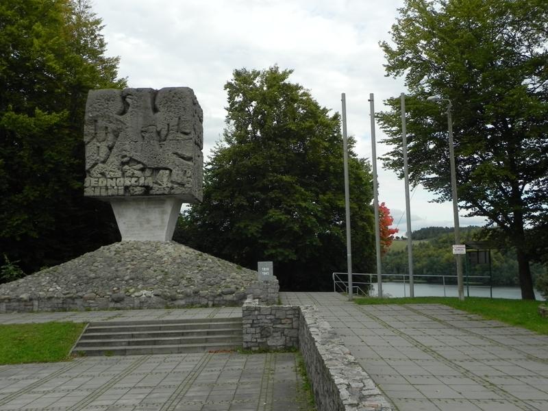 Złota Góra. Panorama spod pomnika