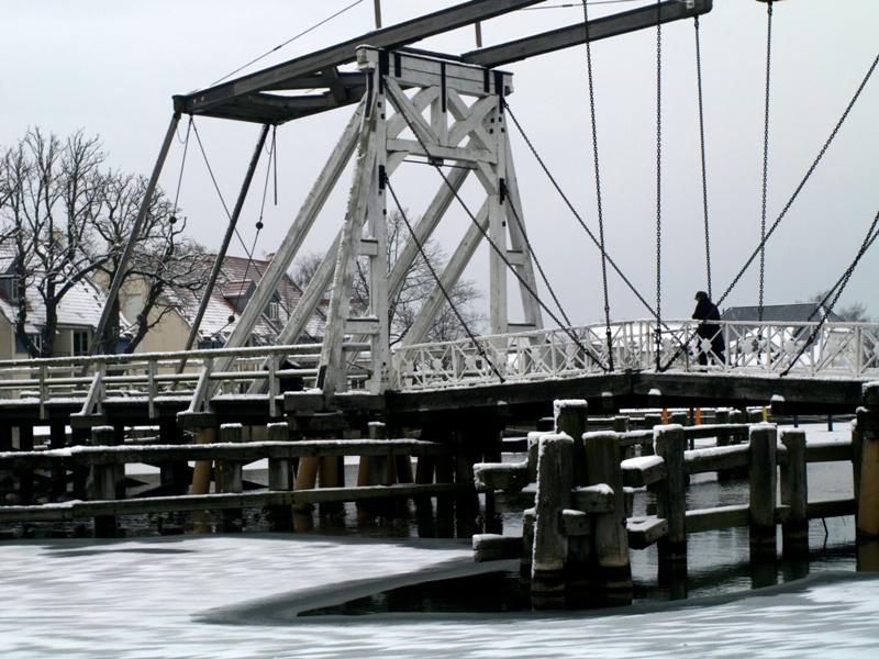 Greifswald Most zwodzony na rzece Ryck
