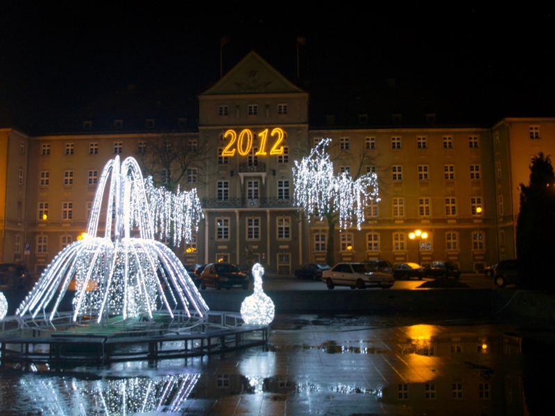 Szczecin Nocne iluminacje: rok 2012 odchodzi