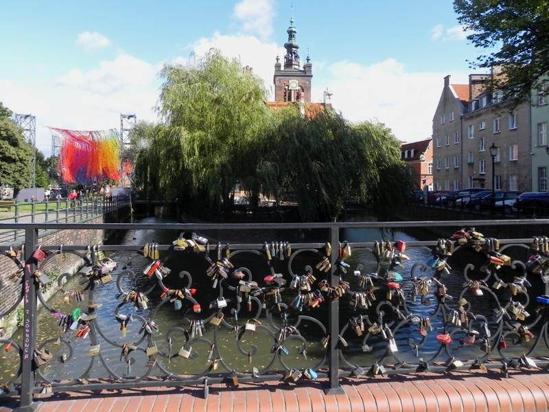 Gdańsk. Most Chlebowy, czyli Most Miłości