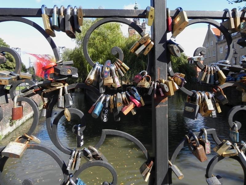 Gdańsk Most Chlebowy, czyli Most Miłości