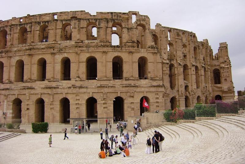 El Jem Rzymski amfiteatr w najlepszym stanie