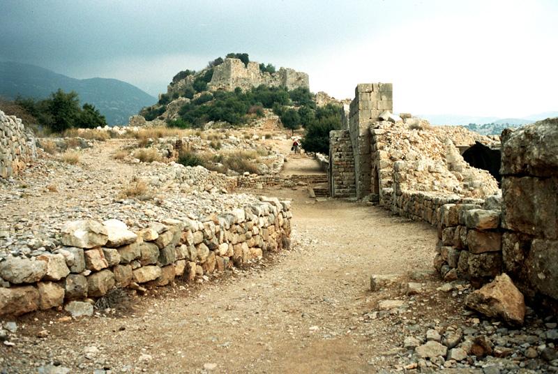 Nimrud. Ruiny zamku krzyżowców