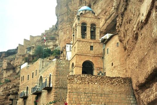 Wadi Qelt Skalny klasztor świętego Jerzego