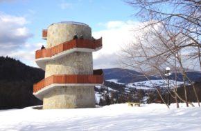 Muszyna Niezwykły park zdrojowy… pod śniegiem