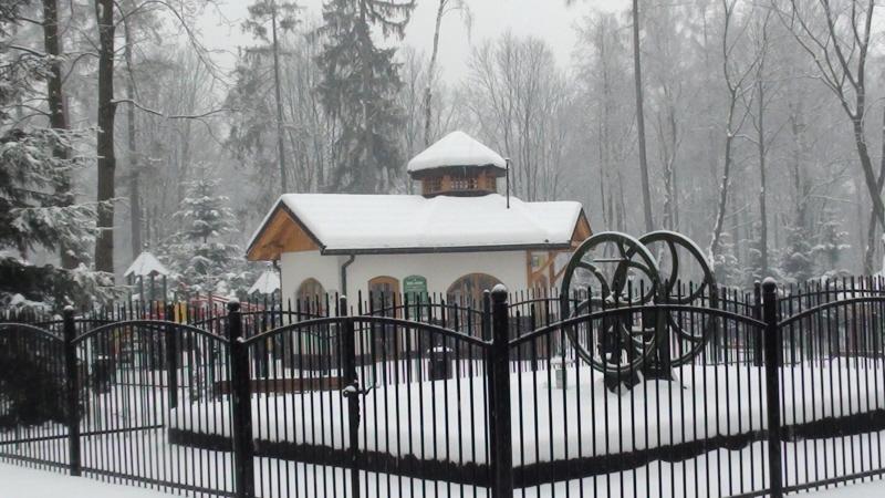 Rabka-Zdrój Zimowy spacer po parku zdrojowym