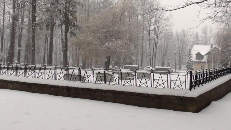 Rabka-Zdrój. Zimowy spacer po parku zdrojowym