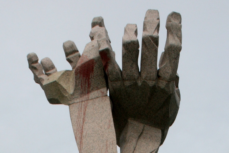 Jantarnyj Pamięć masakry na brzegu Bałtyku