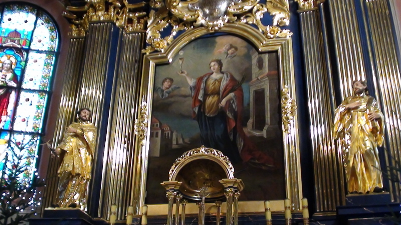 Kraków. Kościół św. Barbary, mojej patronki