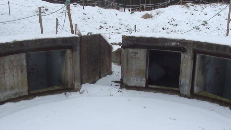 Ustka. Bateria Blüchera w zimowej szacie