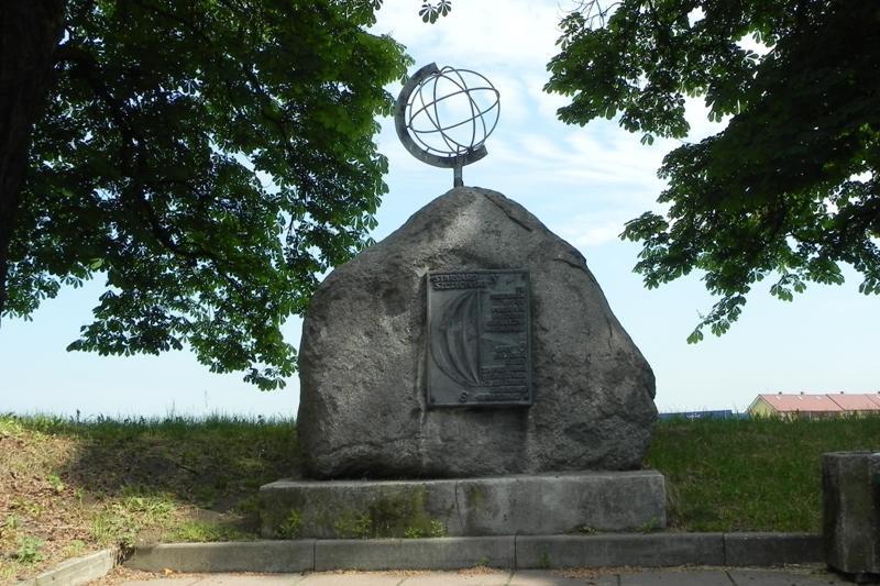 Stargard Szczeciński Pomnik na wirtualnej linii 15 południka