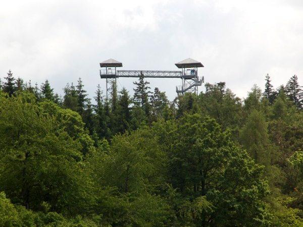 Albrechtice. Taras widokowy na Granicznym Wierchu