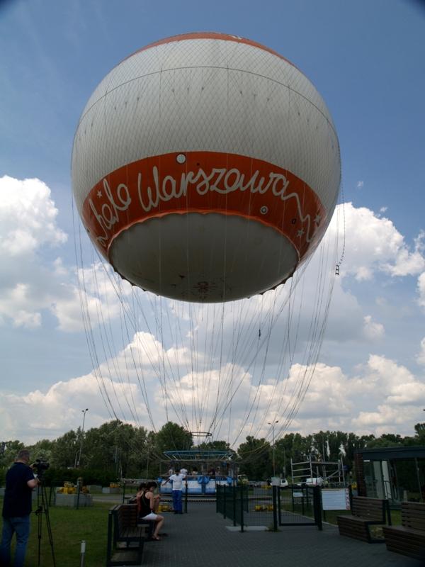Warszawa. Widok stolicy z lotu… balonem