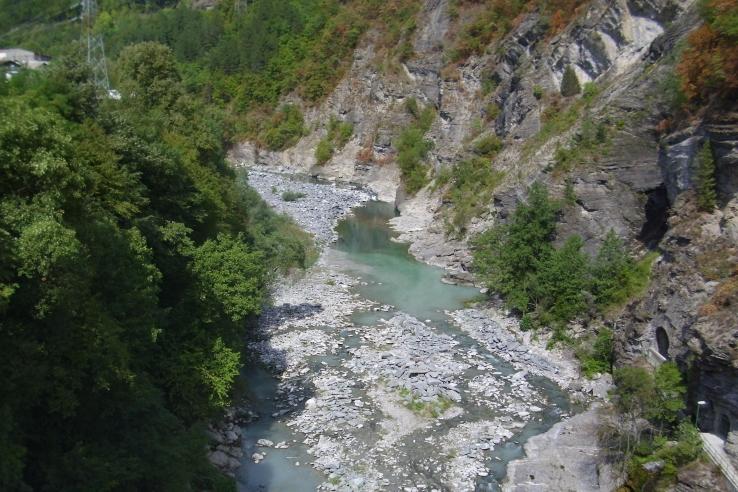 Jablanica W kanionie Neretwy