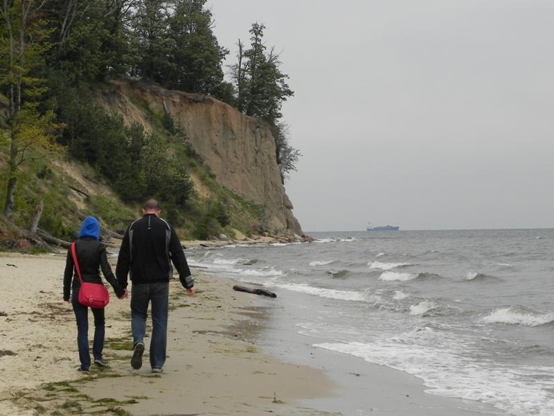 Gdynia. Spojrzenie na brzeg z orłowskiego molo
