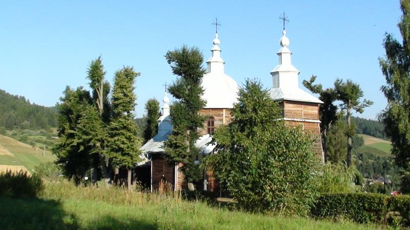 Muszyna. Drewniana cerkiew w Złockiem