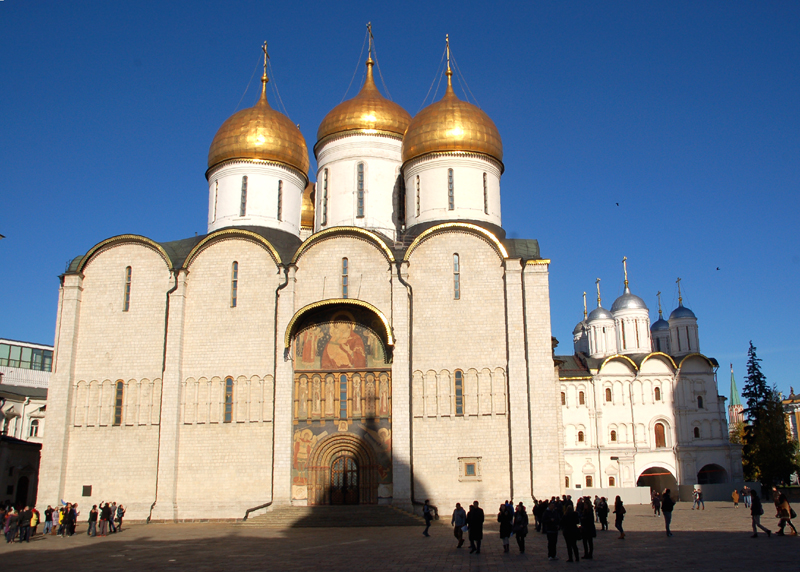 Moskwa Sobór Uspieński, najpiękniejszy na Kremlu