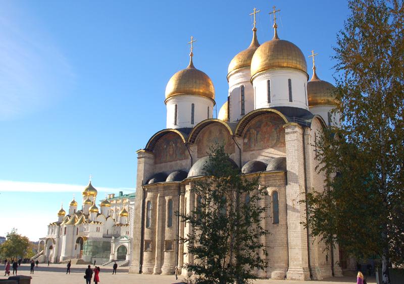 Moskwa. Sobór Uspieński, najpiękniejszy na Kremlu