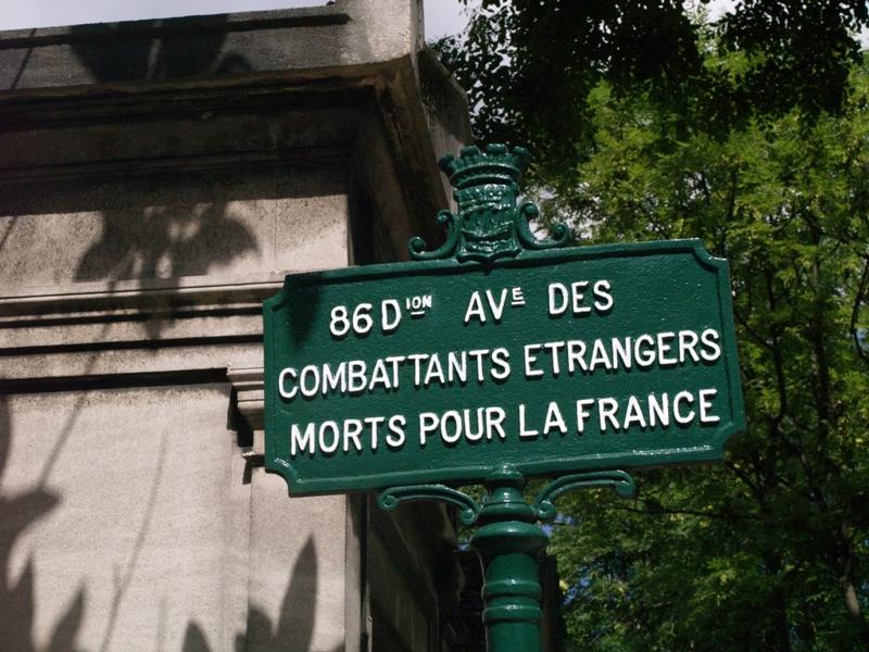 Paryż. Cudzoziemcom poległym za Francję (1)