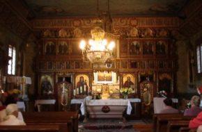 Szczawnik Stare ikony w cerkiewnym wnętrzu