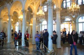 Sankt Petersburg Muzeum Ermitażu w Pałacu Zimowym