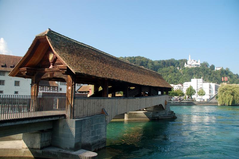 Lucerna Drewniane mosty nad rzeką Reuss