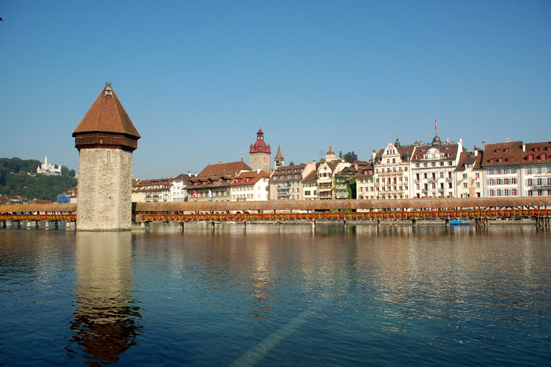 Lucerna. Drewniane mosty nad rzeką Reuss