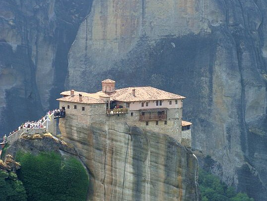 Meteory. Monaster Roussanou, czyli św.Barbary