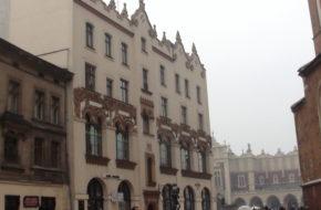 Kraków Plac Mariacki, ulubiony zaułek malarzy