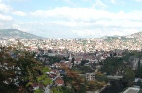 Sarajewo Stara twierdza nad miastem