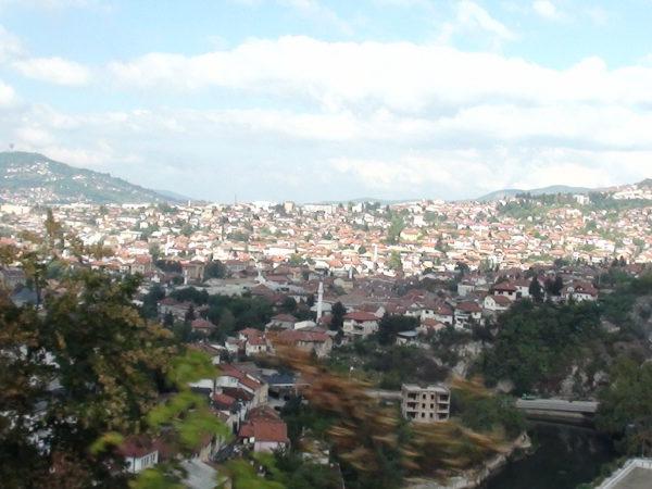 Sarajewo. Stara twierdza nad miastem