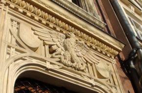 Kraków Stare kamienice wokół rynku i w mieście