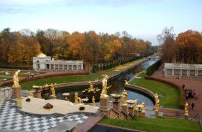 Peterhof Fontanny i ogrody cara Piotra