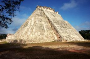 Uxmal Iguany u stóp Piramidy Wróżbity