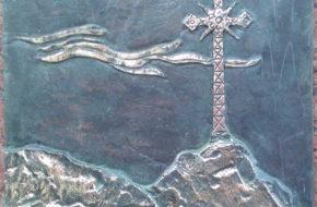 Sopot Nowy kościół i krzyż na Giewoncie