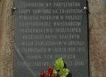 Truskaw. Pomnik w środku kampinoskiej wsi