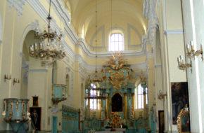 Witów Kościół i resztki norbertańskiego klasztoru