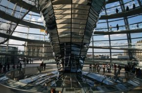 Berlin Widok z kopuły Reichstagu