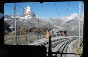 Gornergrat Kolejka z widokiem na Matterhorn
