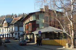 Szklarska Poręba Rzut oka na miasto z sanatorium Granit