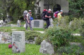 Zermatt Cmentarz ofiar niezwykłej góry